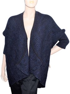 Tahari Wool Blend Shrug Cardigan Sweater Open Front Cape