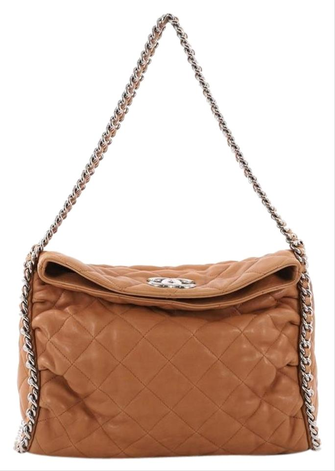 Chanel Hobo Chain Around Quilted Washed Brown Lambskin Hobo Bag ... 60e4e00289e89