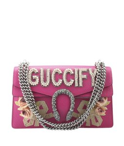 Gucci Leather Silver-tone Italy Dustbag Shoulder Bag