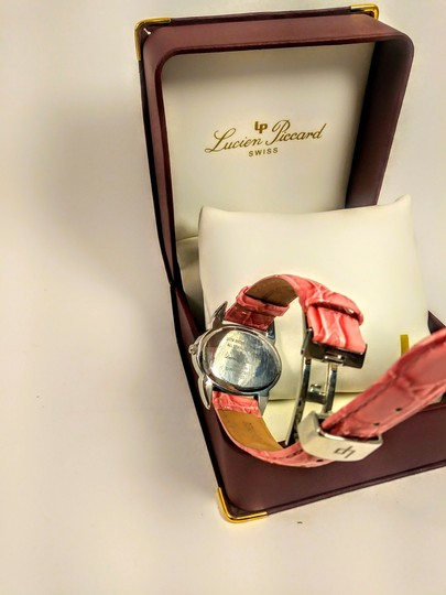 Lucien Piccard Vintage Lucien Piccard Pink face and pink leather band watch
