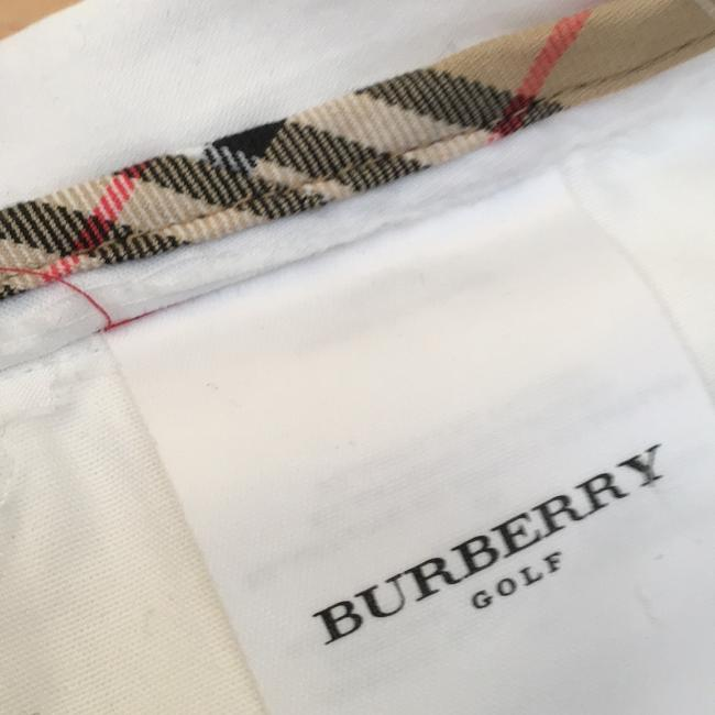 Burberry Straight Pants white with Burberry check on loops and interior