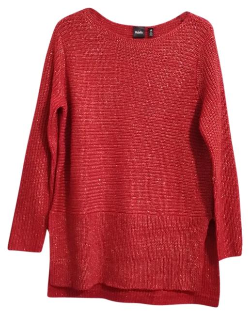 Preload https://img-static.tradesy.com/item/24598004/rafaella-tunic-with-gold-metallic-knit-size-l-red-sweater-0-1-650-650.jpg