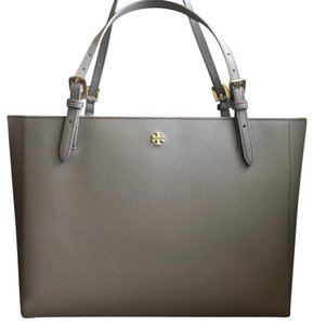 Tory Burch Designer York Tote in French Gray