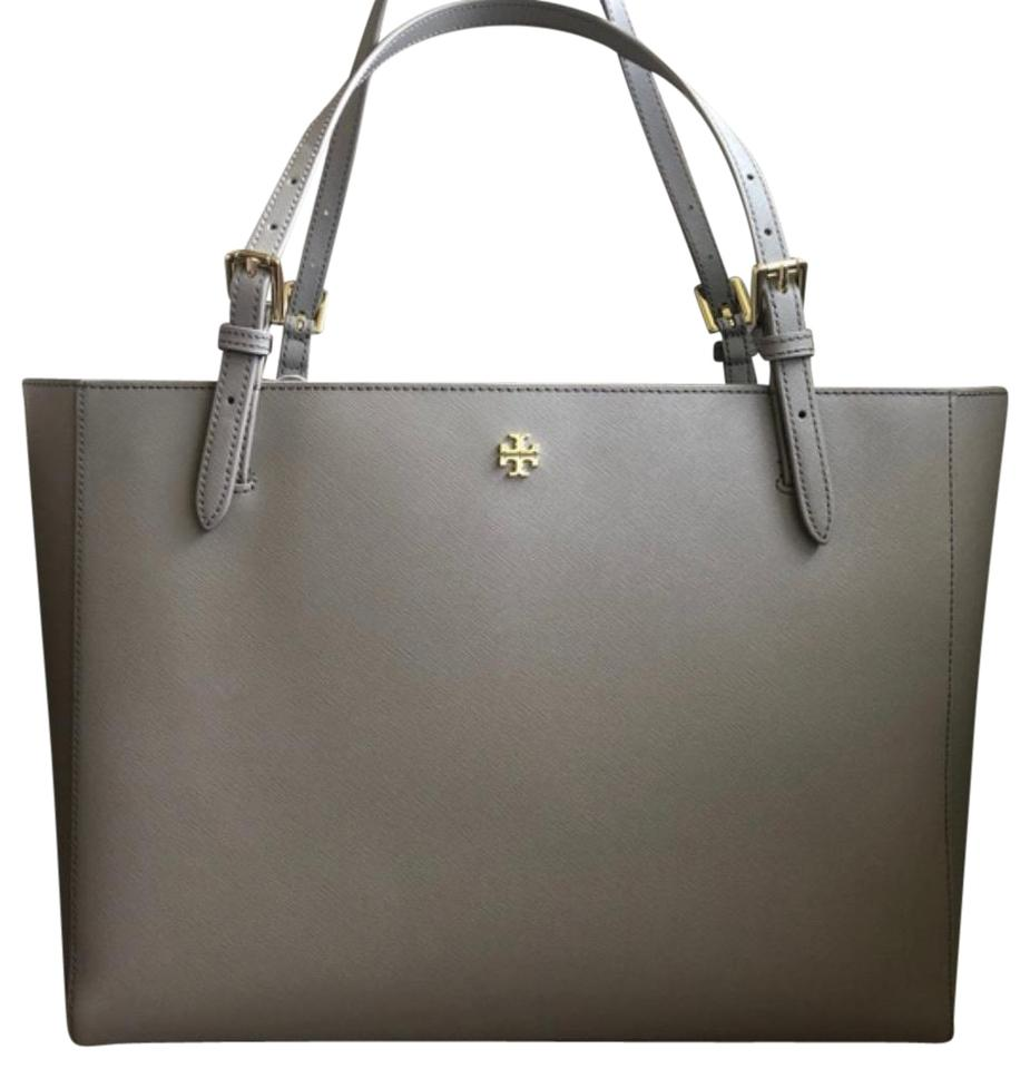 2467d2dc5b0 Tory Burch York Large French Gray Saffiano Leather Tote - Tradesy