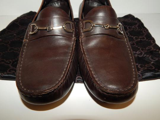 Gucci Horsebit Driving Loafers Brown Flats