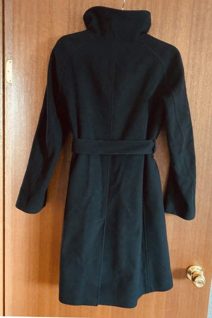 Burberry London Cashmere Wool Tie Waist Trench Coat