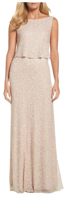 Preload https://img-static.tradesy.com/item/24598148/adrianna-papell-popover-sequin-gown-coral-nude-long-formal-dress-size-4-s-0-1-650-650.jpg