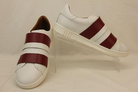 Bally White Willet Red Leather Logo Swiss Sneakers 10 Us 43 Italy Shoes