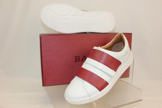 Bally White Willet Red Leather Logo Swiss Sneakers 9.5 Us 42.5 Italy Shoes
