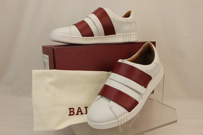 Bally White Willet Red Leather Logo