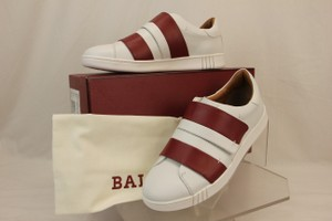 Bally White Willet Red Leather Logo Swiss Sneakers 8.5 Us 41.5 Italy Shoes