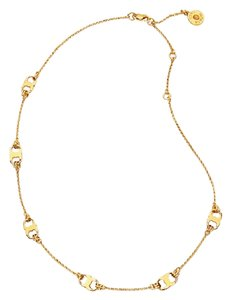 Tory Burch 16K Gold Plated Gemini Link Delicate Necklace