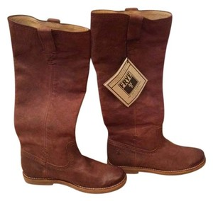 Frye Premium Leather X-stitch Brown Boots
