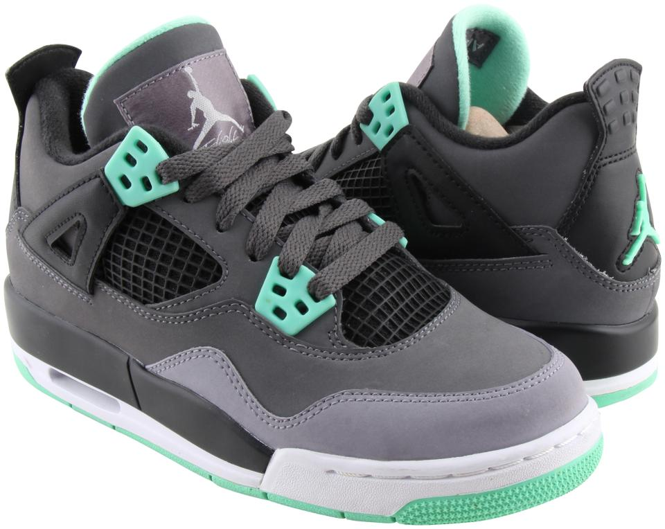 finest selection 3a1e8 8be49 Air Jordan Multicolor Green Glow Retro 4's Sneakers Size US 4 Regular (M, B)