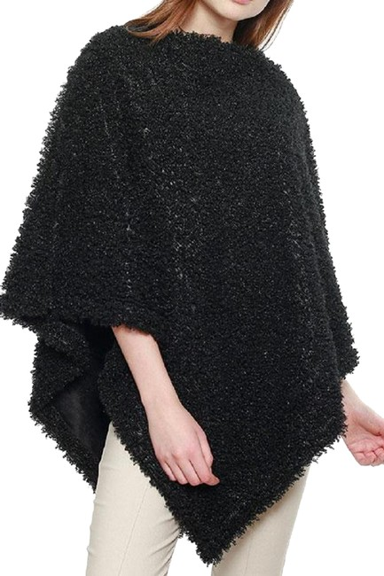 Preload https://img-static.tradesy.com/item/24598392/black-new-with-tags-soft-textured-boucle-faux-fur-ponchocape-size-os-one-size-0-1-650-650.jpg
