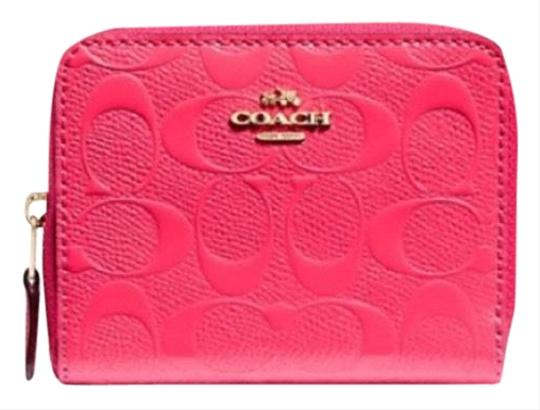 Preload https://img-static.tradesy.com/item/24598479/coach-small-zip-around-in-signature-leather-neon-pink-gold-wallet-0-1-540-540.jpg