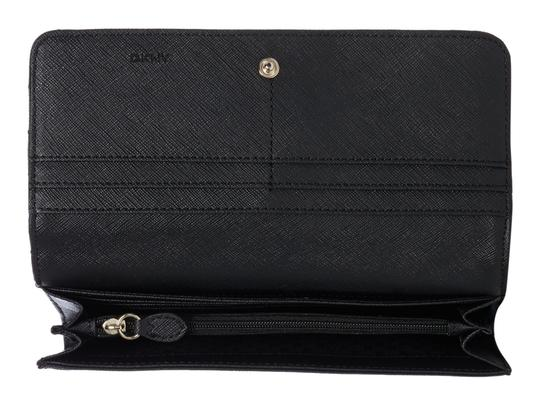 DKNY DKNY Quilted Leather Flap Clutch Wallet Image 1