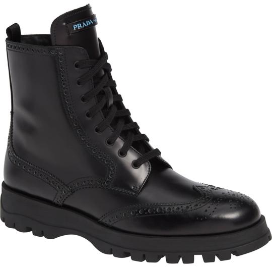 Preload https://img-static.tradesy.com/item/24598497/prada-black-leather-lace-up-combat-bootsbooties-size-eu-395-approx-us-95-regular-m-b-0-1-540-540.jpg