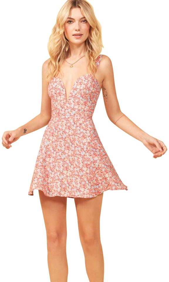 f96274bda3b3 Reformation Pink Erin In Dulce Short Night Out Dress Size 6 (S ...