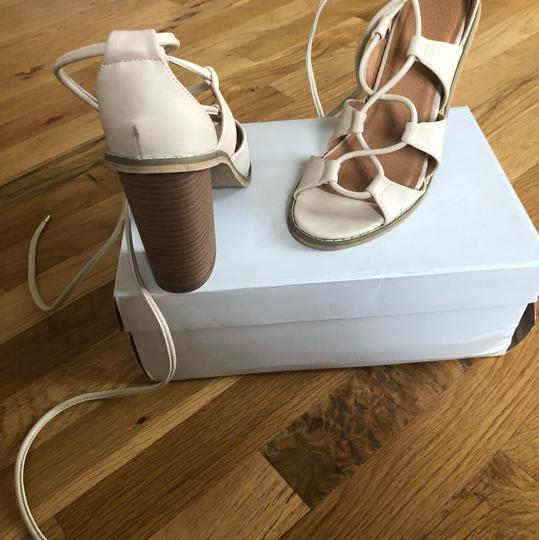 Silence + Noise Urban Outfitters Cream Sandals Image 5