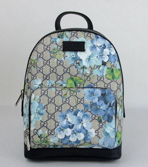 Gucci Beige/Blue Gg Coated Canvas 427042 8493 Backpack Image 1