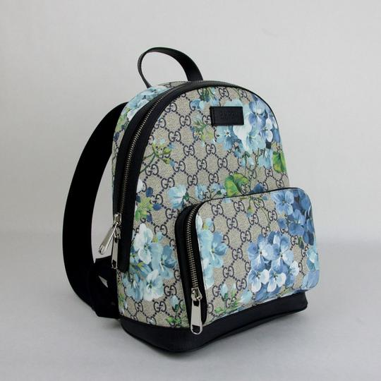 Gucci Beige/Blue Gg Coated Canvas 427042 8493 Backpack Image 2