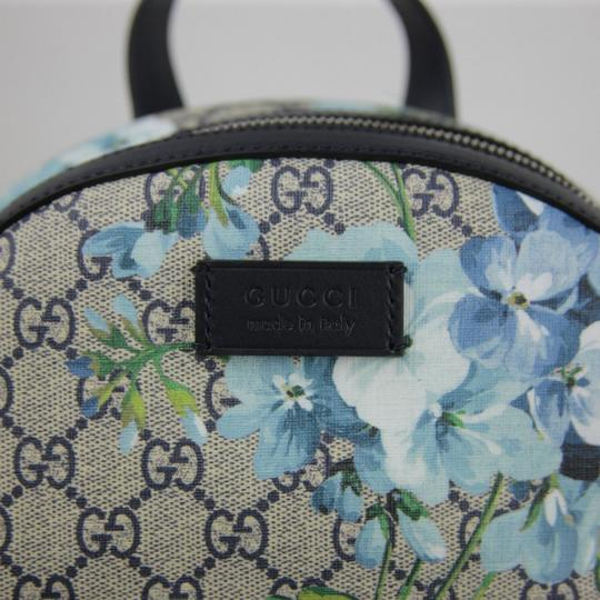 Gucci Beige/Blue Gg Coated Canvas 427042 8493 Backpack Image 6