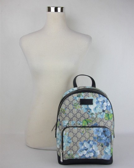 Gucci Beige/Blue Gg Coated Canvas 427042 8493 Backpack Image 7
