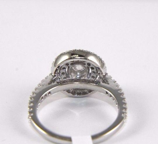Other Round Cut Diamond Solitaire Engagement Ring w/Accents 14k WG 1.12Ct Image 2
