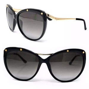 395898accca6 Salvatore Ferragamo Black Gold Square Cat Eyes Sf714s 001 Sunglasses ...