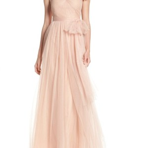 Jenny Yoo Cameo Pink Annabelle Convertible Tulle Column Feminine Bridesmaid/Mob Dress Size 6 (S) - item med img