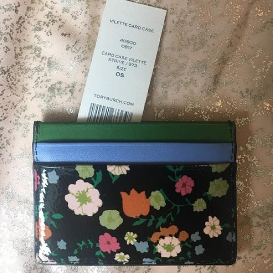 Tory Burch TORY BURCH VILETTE STRIPE CARD CASE WALLET NWT Image 3