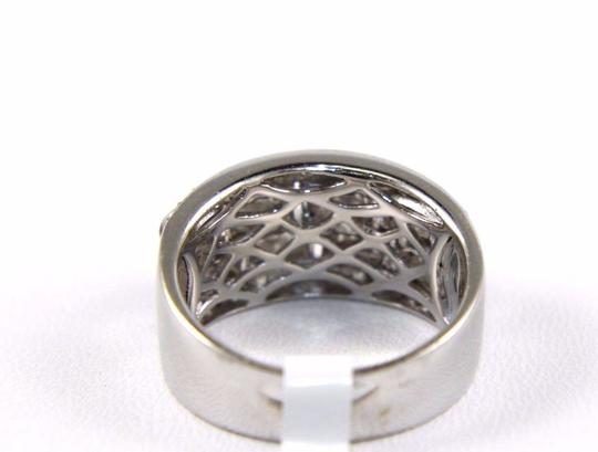 Other Diamond Baguette & Round Cluster Ring Band 14k White Gold 1.05Ct Image 3
