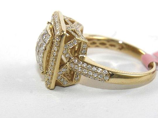 Other Princess Cut Diamond Square Cluster Engagement Ring Band 14k YG 1.75Ct Image 2