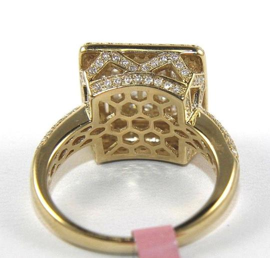 Other Princess Cut Diamond Square Cluster Engagement Ring Band 14k YG 1.75Ct Image 3