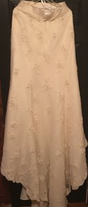 Oleg Cassini Champagne Lace Collection Style Number Ck118 Modern Wedding Dress Size 8 (M)