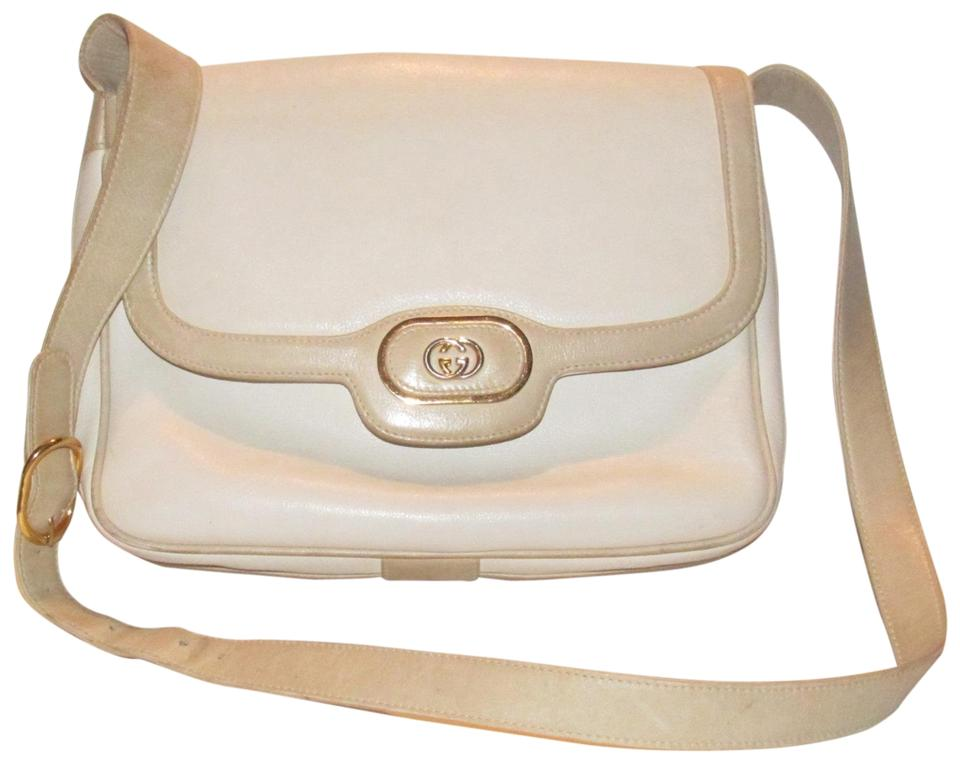 652b047e3c4 Gucci Early Style Mint Vintage White Taupe Envelope Saddle Early Shoulder  Bag Image 0 ...