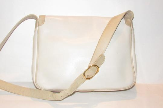 Gucci Early Style Mint Vintage White/Taupe Envelope Saddle Early Shoulder Bag Image 1