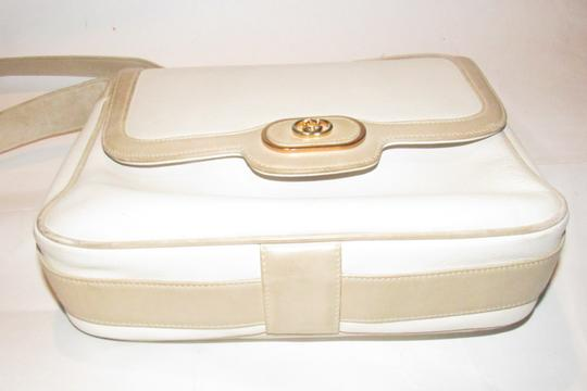 Gucci Early Style Mint Vintage White/Taupe Envelope Saddle Early Shoulder Bag Image 2