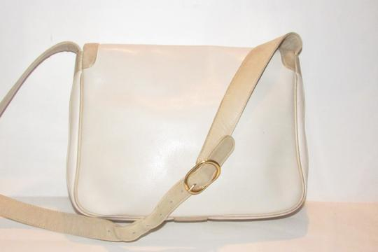 Gucci Early Style Mint Vintage White/Taupe Envelope Saddle Early Shoulder Bag Image 5