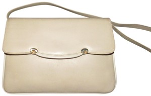 Gucci Early Style Two-way Style Clutch/Shoulder Mint Condition Ivory/White Shoulder Bag