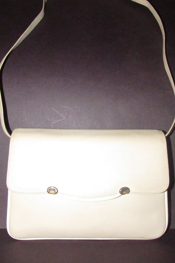 Gucci Early Style Two-way Style Clutch/Shoulder Mint Condition Ivory/White Shoulder Bag Image 4