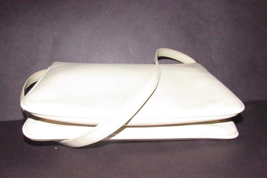 Gucci Early Style Two-way Style Clutch/Shoulder Mint Condition Ivory/White Shoulder Bag Image 7