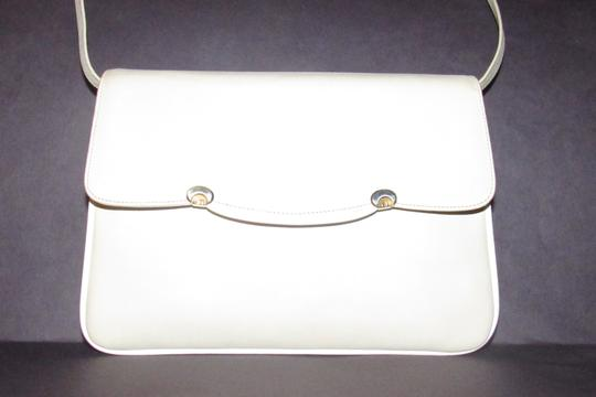 Gucci Early Style Two-way Style Clutch/Shoulder Mint Condition Ivory/White Shoulder Bag Image 8