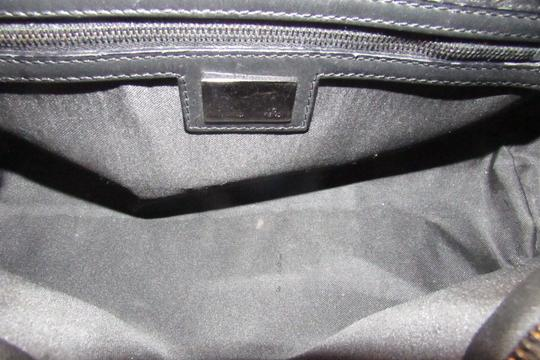 Fendi Mint Condition 'f' Top Handle Satchel in black small F 'Zucchino' logo print canvas and leather with gunmetal hardware Image 2
