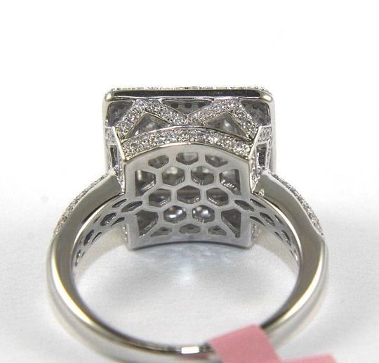 Other Princess Cut Diamond Square Invisible Cluster Ring 14k White Gold 1.74 Image 2