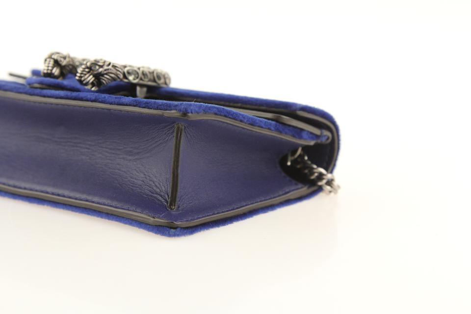 3dfd14860a6 Gucci Dionysus Super Mini Navy Blue Velvet Shoulder Bag - Tradesy