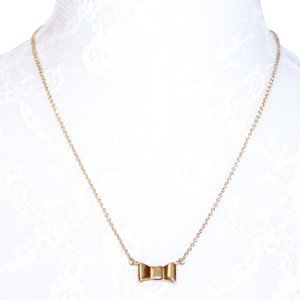 Kate Spade Gold Plated Bow Necklace