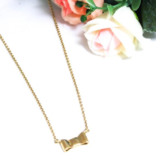 Kate Spade Gold Plated Bow Necklace Image 1