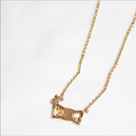 Kate Spade Gold Plated Bow Necklace Image 2